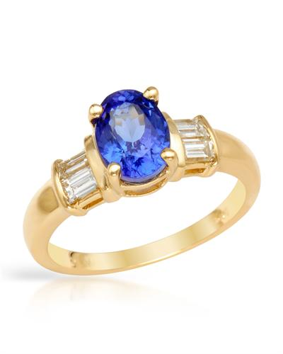 View  Gold<BR> TANZANITE Ring